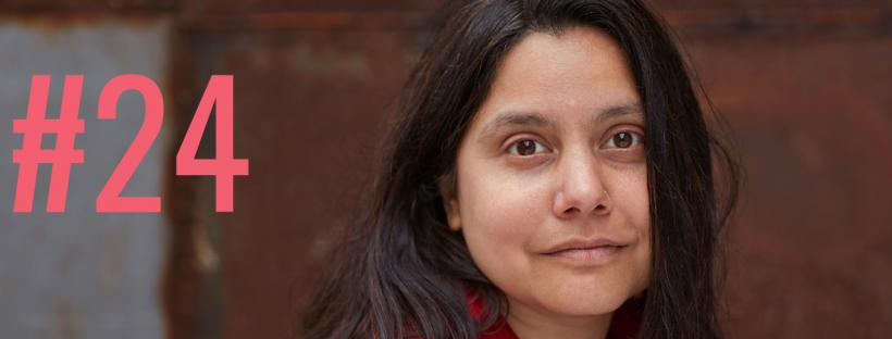 Vorschaubild Blogbeitrag, Portrait der Autorin Mithu M. Sanyal